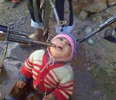child in terror