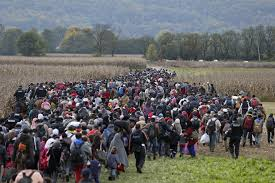 marching migrants